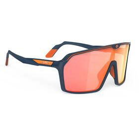 Rudy Project Spinshield Glasses, blue navy matte/multilaser orange